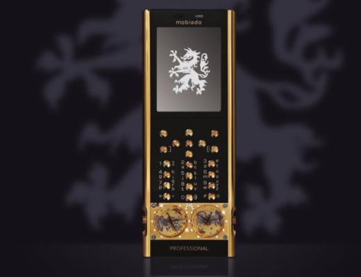Mobiado Luxushandy 105GMT Gold 520x400 - Mobiado 105GMT Gold - Luxushandy mit mechanischen Uhren