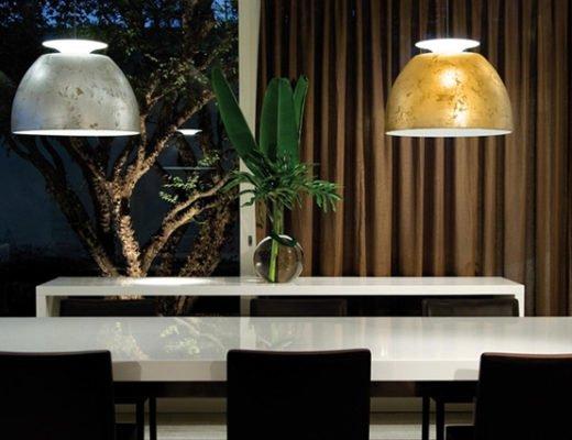 """bossa lumini lampe 520x400 - Die preisgekrönte """"Bossa"""" von Lumini jetzt auch in Silber und in Gold"""