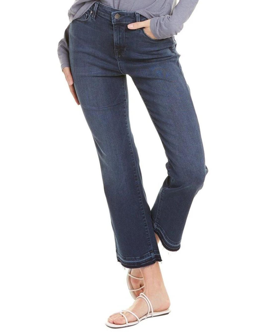 fidelity jeans denim Blue Hayden Ballistic Crop Flare Leg Jean - Fidelity Jeans - Die mit den Goldnieten
