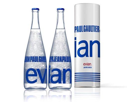 evian flasche jean paul gaultier - Jean Paul Gaultier designt für Evian