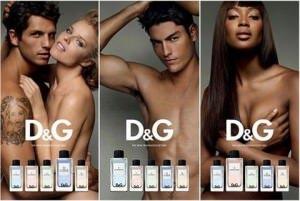 dg anthology parfum - Für D&G machen sich Naomi Campbell, Claudia Schiffer und Eva Herzigova nackt