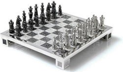Diamanten Schachspiel Charles Hollander - Schachspielen mit Diamanten