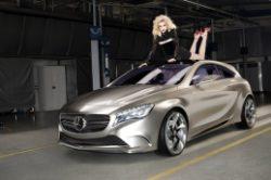 Mercedes Benz Concept A Class © Merceds Benz - Mercedes-Benz Fashion Week: Jessica Stam und Concept A-Class