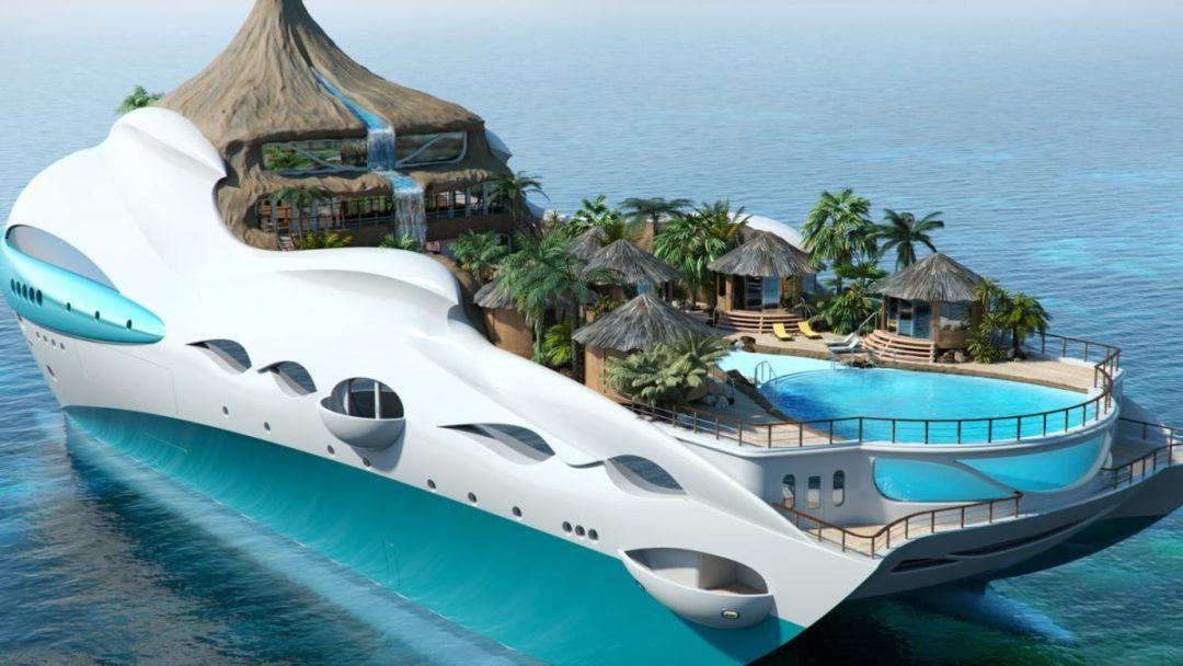Tropical Island Paradise Yacht 1080x608 - Tropical Island Paradise: Eine Yacht als Vulkaninsel