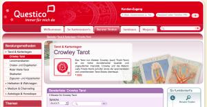 Questico Tarot 300x156 - In die Zukunft sehen mit Hilfe von Online Wahrsagen