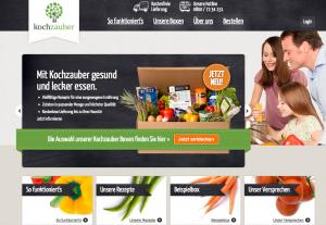 Die Homepage von Kochzauber