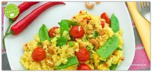 Indischer Cashew-Tanz - Gemüse-Reis-Pfanne Mumbai mit Cashewkernen