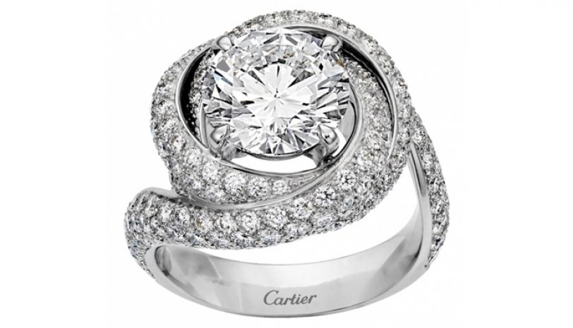 cartier trinity ruban ring diamantring - Cartier: Cocktailring Trinity Ruban
