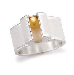 ARS 12855 Ring Silber 925 1g Feingoldkugel - ARS: Besondere Stücke aus der Schmuckmanufaktur