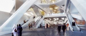 King Abdullah Financial District Metro Station Foto Zaha Adid Architects - King Abdullah Financial District Metro Station: Luxus-U-Bahn-Station in Saudi Arabien