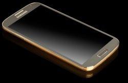 Samsung Galaxy S4 Gold Foto goldgenie com - Samsung Galaxy S4 überzogen mit Gold