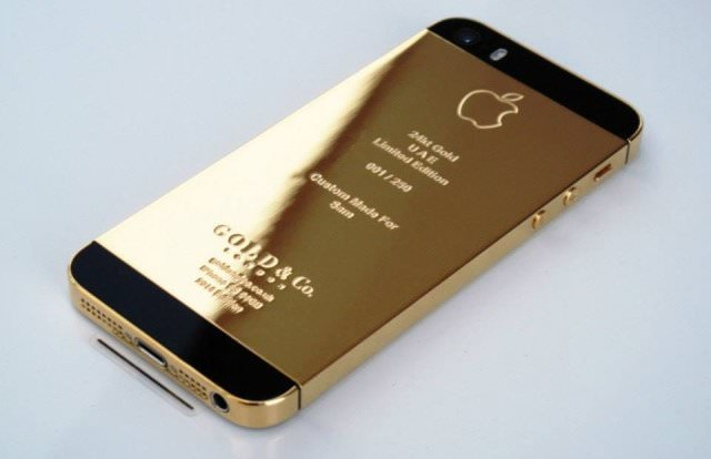 24k gold iphone 5s echtgold - iPhone 5S in Echt-Gold und Platin