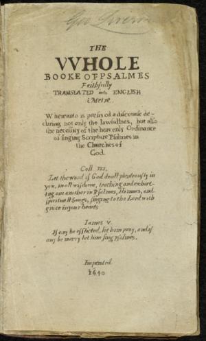 Bay Psalm Book Quelle Wikimedia - Auktions-Weltrekord: Historisches Buch für 14 Millionen versteigert