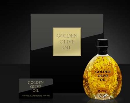 golden olive oil Foto goldenoliveoil com - Golden Olive Oil von Creative Laboratory: Goldiges Olivenöl der Luxusklasse