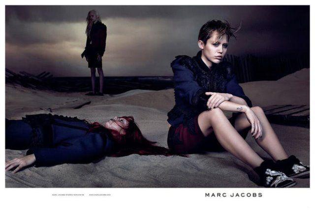 Marc Jacobs Miley Cyrus Foto Twitter com - Marc Jacobs: Düstere Kampagne mit Miley Cyrus