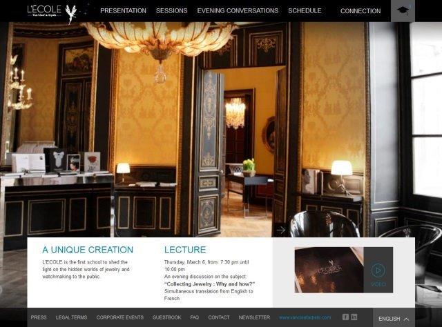 Screenshot LECOLE Van Cleef Arpels - L'École Van Cleef & Arpels in Paris: Kurse rund um die Haute Joaillerie