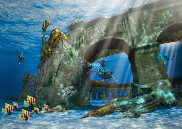 Pearl of Dubai Foto Reef Worlds - Pearl of Dubai: Größter Unterwasserpark der Welt in Planung