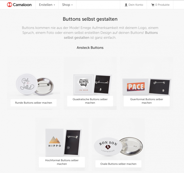 carmaloon buttons herstellen - Camaloon macht mit Buttons kreativ