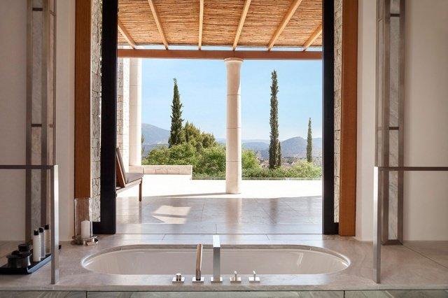 hotel amanzoe heli porto bath - Die exklusivsten Luxushotels Griechenlands