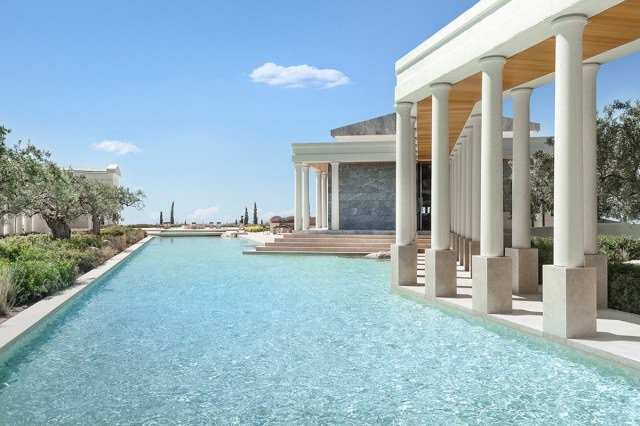 hotel amanzoe heli porto pavillon - Die exklusivsten Luxushotels Griechenlands