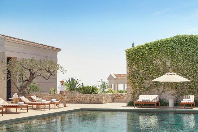 hotel amanzoe heli porto swimming pool - Die exklusivsten Luxushotels Griechenlands