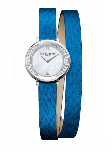 Baume et Mercier Petite Promesse M0A10288 Banka blue 1470200 - Uhren-News: Feinstes Banka Leder bei Baume & Mercier