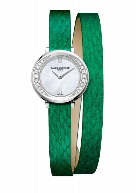 Baume et Mercier Petite Promesse M0A10288 Banka green 1470202 - Uhren-News: Feinstes Banka Leder bei Baume & Mercier