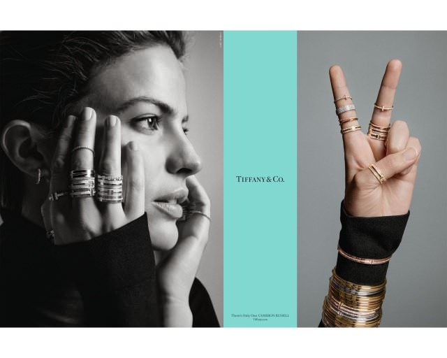 Cameron Russell an American supermodel and activist in Tiffany Co.'s Fall advertising campaign - Hollywood-Stars für Tiffany & Co.