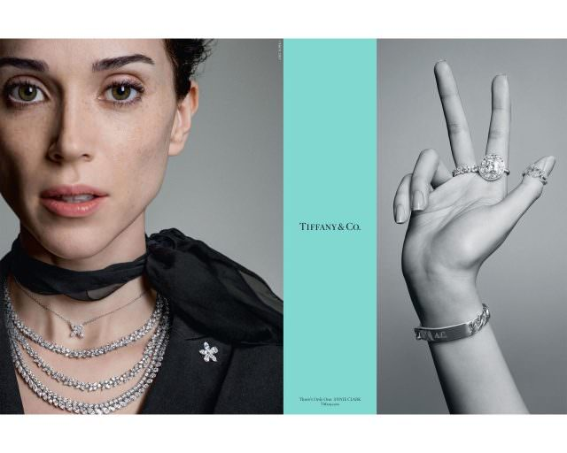 Musician Annie Clark also known by her stage name St. Vincent in Tiffany Co.'s Fall advertising campaign 640x512 - Hollywood-Stars für Tiffany & Co.