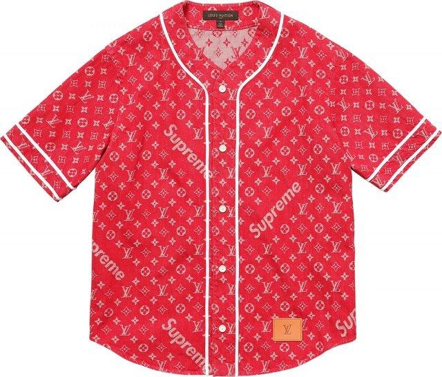 Supreme Louis Vuitton Baseball Shirt - Louis Vuitton x Supreme