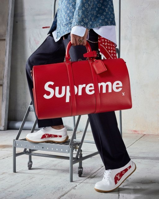 Supreme Louis Vuitton Holdall Speedy Keepall - Louis Vuitton x Supreme