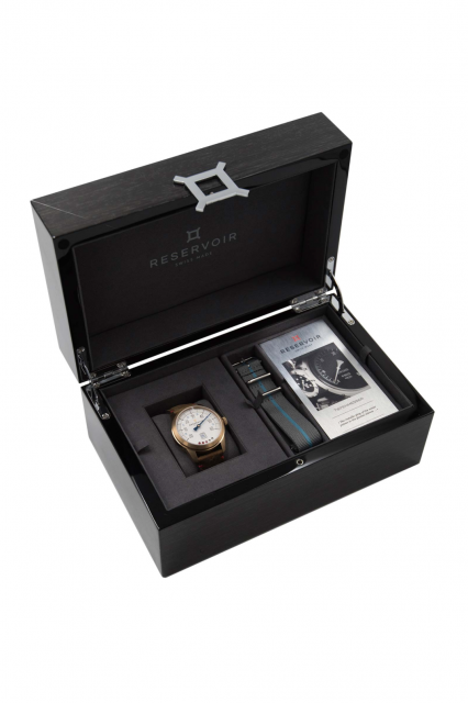 Reservoir Tiefenmesser Bronze Armbanduhr Box Schachtel - Reservoir Tiefenmesser Bronze. U-Boot-Marine trifft Armbanduhr