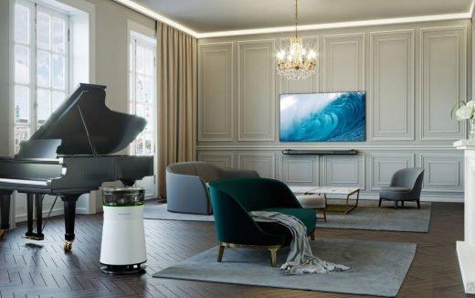 Bild LG SIGNATURE OLED TV W und Air Purifier mit Creme Tönen 520x326 - Designtrends bei TV & Heimelektronik: LG Signature