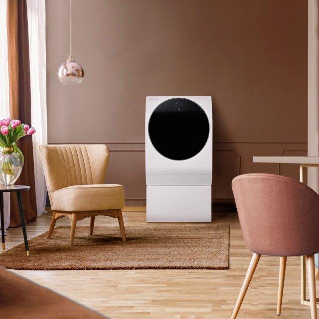 Bild LG SIGNATURE Waschmaschine mit Korallen und Tonelementen - Designtrends bei TV & Heimelektronik: LG Signature