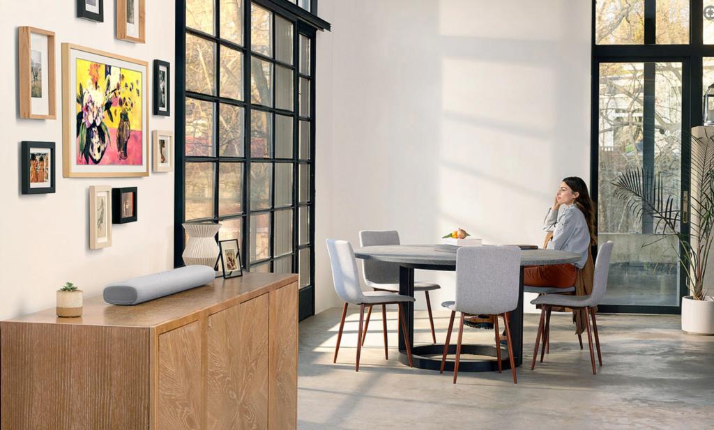 """samsung the frame tv fernseher Soundbar HW S61T test erfahrungen 1024x617 - Ist das Kunst oder kann man damit Fernsehen? Samsung TV 50"""" QLED 4K The Frame"""