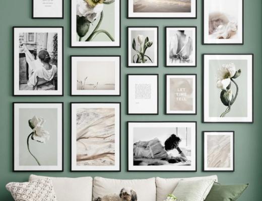 bilderwaende posterwaende dekoration 520x400 - Bilderwände gestalten für modernes Wohnflair