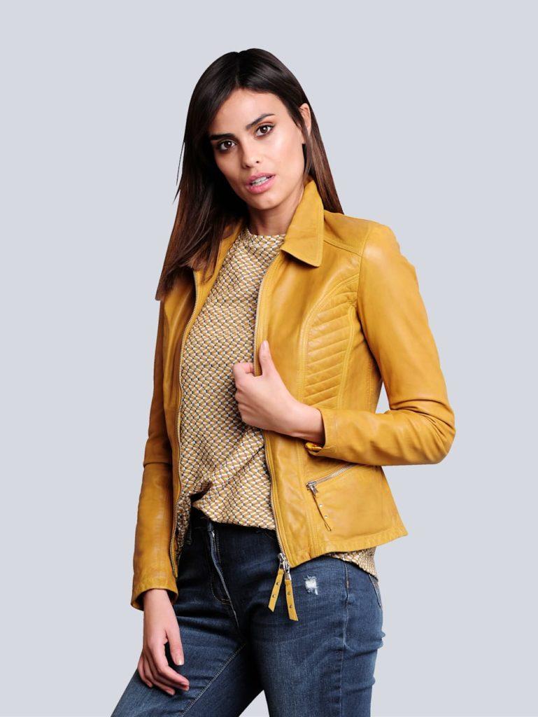 alba moda lederjacke hochwertigem lammnappa herbstmode 769x1024 - Herbstfarben 2020. Diese neuen Modetrends kommen in dieser Saison.