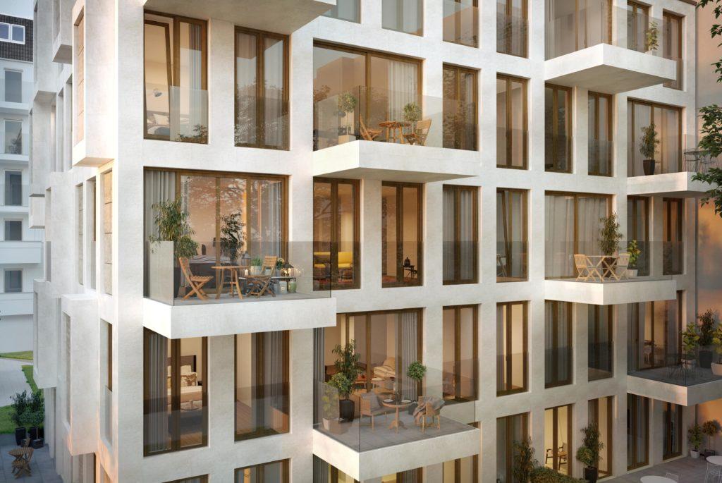TheOyster Visualisierung Aussenansicht 1024x685 - The OYSTER - Neuer Wohn-Luxus in Berlins City West
