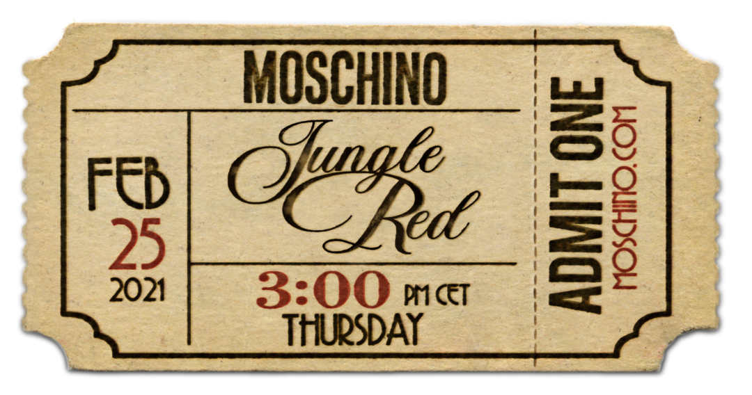 MOSCHINO Herbst Winter 2021 JUNGLE RED Video 1080x568 - Jungle Red - Moschino Herbst/Winter 2021 Kollektionsfilm