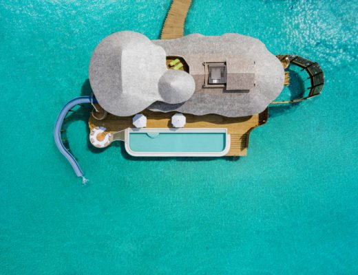 Soneva Jani 2BR Water Reserve aerial  by Sandro Bruecklmeier. 520x400 - Traumziel Malediven – neue Luxus-Privatvillen bei Soneva Jani