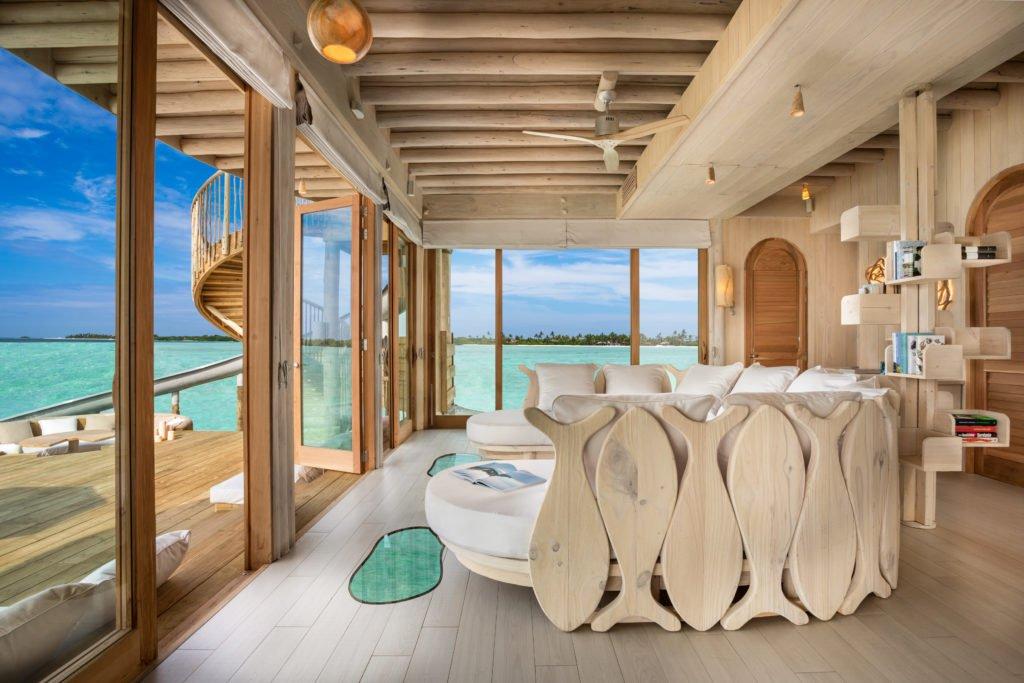Soneva Jani 2BR Water Reserve living room interior  by Sandro Bruecklmeier. 1024x683 - Traumziel Malediven – neue Luxus-Privatvillen bei Soneva Jani