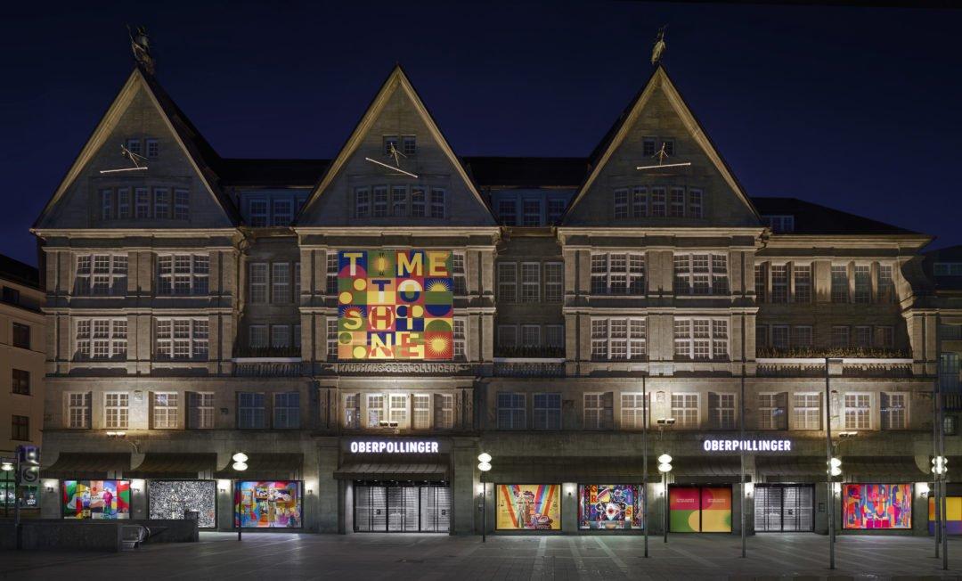 TIME TO SHINE KaDeWeGroup Oberpollinger Fassade 1080x652 - Time to Shine: Street Art in den Innenstädten