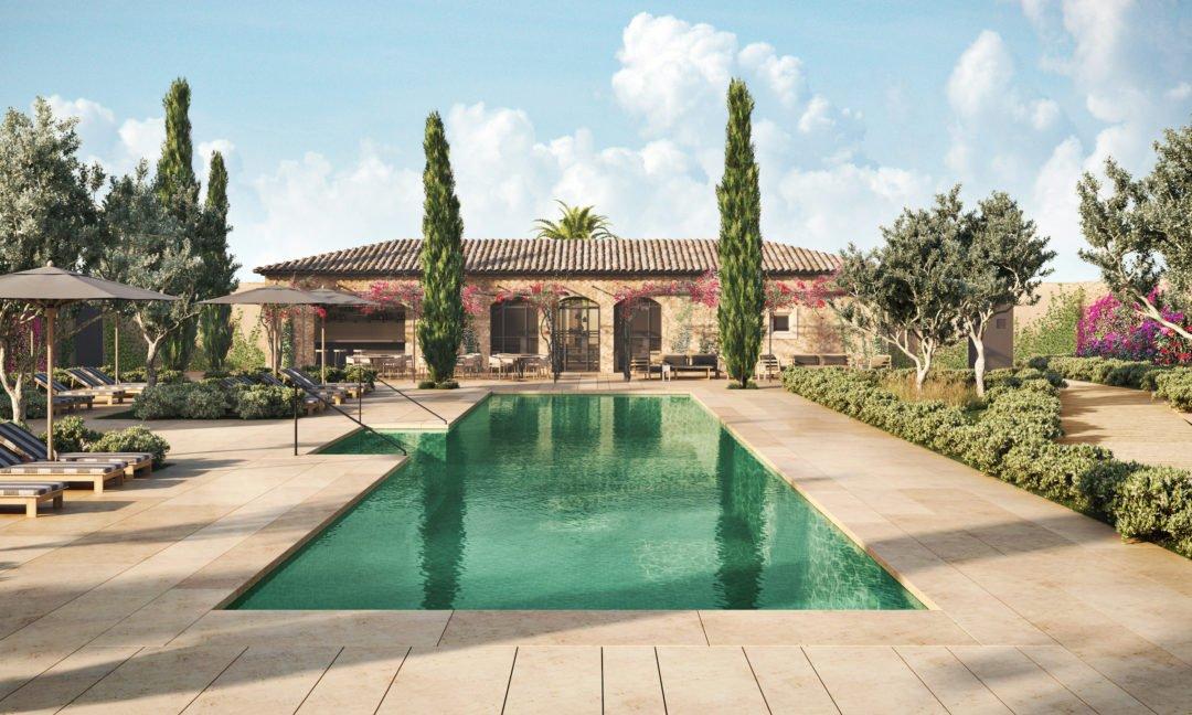 Pool rendering 1080x648 - Boutique-Hotel Can Ferrereta - Luxus im Südosten von Mallorca