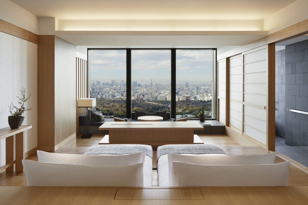 Aman Tokyo Deluxe Palace Garden View room