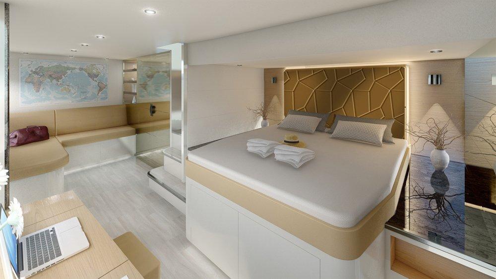 SILENT 60 62 3DECK MasterCabin version A1 - Silent Yacht – die Zukunft des Yachting