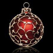 Luxus-Weihnachtskugel mit Gold und 5 Karat Diamanten